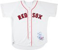 Baseball Collectibles:Uniforms, 2004 Bill Mueller Game Worn Signed Boston Red Sox Jersey. ...