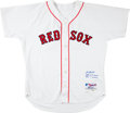 Baseball Collectibles:Uniforms, 2004 Keith Foulke Game Worn Signed Boston Red Sox Jersey. ...