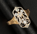 Estate Jewelry:Rings, Early 18k Gold & Diamond Angel Motif Ring. ...