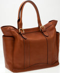 Luxury Accessories:Bags, Heritage Vintage: Ghurka Tan Natural Leather Countryman Tote Bag....