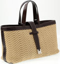 Luxury Accessories:Bags, Heritage Vintage: Lambertson Truex Classic Leather and Woven RopeTote Bag. ...