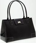 Luxury Accessories:Bags, Heritage Vintage: Lambertson Truex Large Black Leather Kansas ToteBag. ...