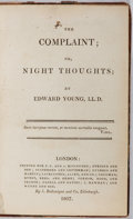 Books:Literature Pre-1900, Edward Young. The Complaint; or Night Thoughts. F. C and J.R. Rivington, et al., 1807. Early edition. Illustrat...