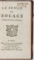 Books:Literature Pre-1900, Giovanni Boccaccio. Le Songe de Bocace. Pierre Bouillerot,1698. Early edition. French text. Contemporary leathe...
