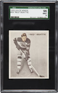 """Hockey Cards:Singles (Pre-1960), 1933 World Wide Gum """"Ice Kings"""" Red Beattie #29 SGC 96 Mint 9 - Ultimate SGC Example! ..."""