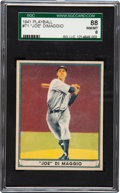 Baseball Cards:Singles (1940-1949), 1941 Play Ball Joe DiMaggio #71 SGC 88 NM/MT 8 - Pop Four, TwoHigher....
