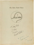 "Autographs:Others, 1948 Babe Ruth Signed ""The Babe Ruth Story"" Paperback...."