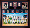 Baseball Collectibles:Others, 1920's-2000's 500 Home Run Club Display Signed by Twenty-Two!...