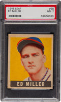 Baseball Cards:Singles (1940-1949), 1948 Leaf Ed Miller SP #68 PSA NM 7....