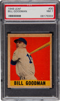 Baseball Cards:Singles (1940-1949), 1948 Leaf Bill Goodman SP #30 PSA NM 7....