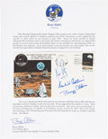 "Explorers:Space Exploration, Apollo 11 Crew-Signed ""Type One"" Insurance Cover Originally fromthe Personal Collection of Mission Lunar Module Pilot Buzz Al..."