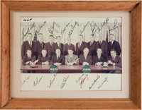 NASA Astronaut Group One and Group Two Large Color Photo Signed