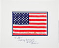 Explorers:Space Exploration, Apollo 15 Flown American Flag Directly from the Jim RathmannCollection, Signed (Twice) and Certified by Mission CommandModul...