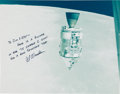 Autographs:Celebrities, Apollo 15 Large Color Mission Photo Signed by Al Worden, Directlyfrom the Jim Rathmann Collection....