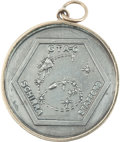 Explorers:Space Exploration, Gemini 6A Flown Silver-Colored Fliteline Medallion Directly from the Jim Rathmann Collection....
