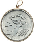Explorers:Space Exploration, Gemini 7 Flown Silver-Colored Fliteline Medallion Directly from theJim Rathmann Collection....
