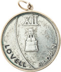 Explorers:Space Exploration, Gemini 12 Flown Silver-Colored Fliteline Medallion Directly from the Jim Rathmann Collection....