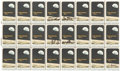 """Autographs:Celebrities, Apollo 15: Pane of Twenty-Four U.S. 6¢ """"Apollo 8"""" Stamps (Scott#1371) Signed by Scott and Worden, Directly from the Perso..."""