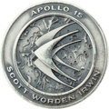 Explorers:Space Exploration, Apollo 15 Unflown Silver Robbins Medallion Directly from the Jim Rathmann Collection, Serial Number 179. ...