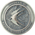 Explorers:Space Exploration, Apollo 15 Flown Silver Robbins Medallion Directly from the JimRathmann Collection, Serial Number 019....
