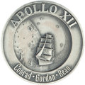 Explorers:Space Exploration, Apollo 12 Flown Silver Robbins Medallion Directly from the JimRathmann Collection, Serial Number 1....
