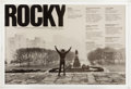 "Boxing Collectibles:Memorabilia, 1976 ""Rocky"" Promotional Poster from Golden Globes Banquet...."