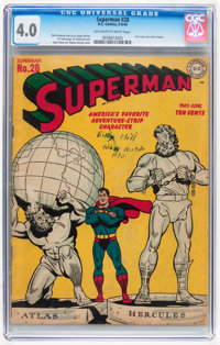 Superman #28 (DC, 1944) CGC VG 4.0 Off-white to white pages