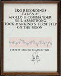 "Explorers:Space Exploration, Neil Armstrong: Signed EKG Strip as He Made that Legendary ""Giant Leap for Mankind"" on the Moon, on a Presentation Plaque...."
