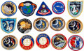 Explorers:Space Exploration, Apollo and Skylab: Fifteen Crew and Souvenir Embroidered MissionInsignia Patches Directly from the Jim Rathmann Collection....