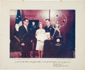 Autographs:Military Figures, Ed White II: Photo Presented to Mr. & Mrs. Ed White II, Signed by Air Force Secretary Harold Brown. ...