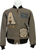 Explorers:Space Exploration, Ed White II: His U.S. Military Academy Army Letterman's Jacket from1952, with Handwritten LOA from Ed White III.... (Total: 2 Items)
