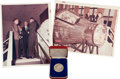 Explorers:Space Exploration, Ed White II: Prince Phillip 1966 Limited Edition Medal and TwoRelated Photos from His Personal Collection.... (Total: 3 Items)