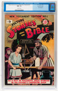 Golden Age (1938-1955):Religious, Picture Stories from the Bible New Testament Edition #1 Gaines Filepedigree 6/12 (EC, 1946) CGC NM+ 9.6 Off-white pages....