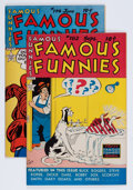 Golden Age (1938-1955):Miscellaneous, Famous Funnies #182 and 194 File Copy Group (Eastern Color, 1949-51) Condition: VF.... (Total: 2 Comic Books)