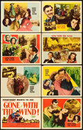 "Movie Posters:Academy Award Winners, Gone with the Wind (MGM, R-1947). Lobby Card Set of 8 (11"" X 14"")..... (Total: 8 Items)"