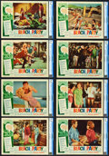 """Movie Posters:Comedy, Beach Party (American International, 1963). CGC Graded Lobby Card Set of 8 (11"""" X 14"""").. ... (Total: 8 Items)"""