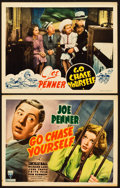 """Movie Posters:Comedy, Go Chase Yourself (RKO, 1938). Title Lobby Card and Lobby Card (11""""X 14"""").. ... (Total: 2 Items)"""