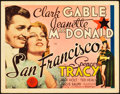 "Movie Posters:Romance, San Francisco (MGM, 1936). Title Lobby Card (11"" X 14""). Romance....."