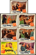 """Movie Posters:Comedy, Topper (Film Classics, R-1944). Title Lobby Card and Lobby Cards(6) (11"""" X 14"""").. ... (Total: 7 Items)"""