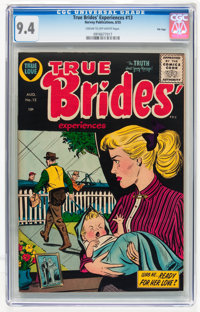 True Brides' Experiences #13 File Copy (Harvey, 1955) CGC NM 9.4 Cream to off-white pages