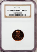 Proof Lincoln Cents, 1971-S 1C PR68 Red Ultra Cameo NGC. NGC Census: (96/17). PCGSPopulation (116/12). Mintage: 3,220,733. (#3434)...