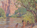 Paintings, MAYNARD DIXON (American, 1875-1946). Banks of Black River, 1915. Oil on canvas. 12 x 15-3/4 inches (30.5 x 40.0 cm). Sig...