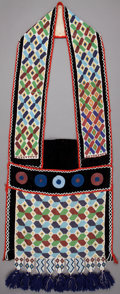 American Indian Art:Beadwork and Quillwork, A POTAWATOMIE BEADED CLOTH BANDOLIER . c. 1890. ...