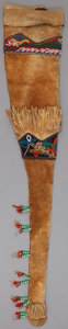 American Indian Art:Beadwork and Quillwork, A TLINGIT BEADED HIDE RIFLE SCABBARD. c. 1900 ...