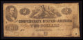 Confederate Notes:1862 Issues, T42 $2 1862 PF-2 Cr. 335. ...