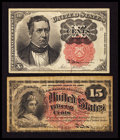 Fractional Currency:Fifth Issue, Fr. 1265 10¢ Fifth Issue Extremely Fine. Fr. 1269 15¢ Fourth IssueVery Good.. ... (Total: 2 notes)