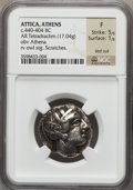 Ancients:Greek, Ancients: ATTICA. Athens. Ca. 454-406 BC. AR tetradrachm (17.04gm). ...