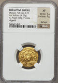 Ancients:Byzantine, Ancients: BYZANTINE EMPIRE: Phocas (AD 602-610). AV solidus (4.29gm). ...