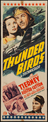 "Thunder Birds (20th Century Fox, 1942). Insert (14"" X 36""). War"