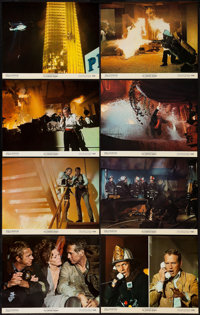"The Towering Inferno (20th Century Fox, 1974). Deluxe Rotograph Lobby Card Set of 8 (11"" X 14""). Action. ... (..."
